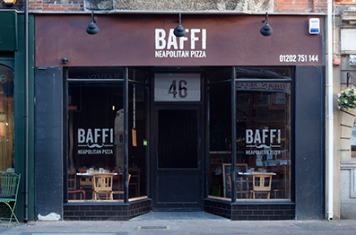 Baffi shop front installation